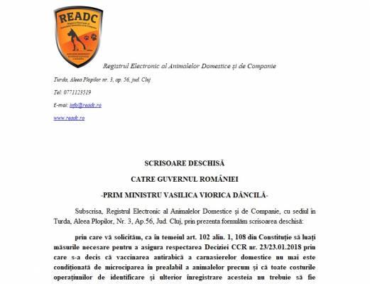 Scrisoare deschisa catre prim ministrul Romaniei